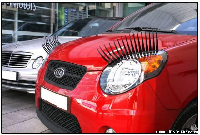 что вы думаете о ресничках для автомобилей?