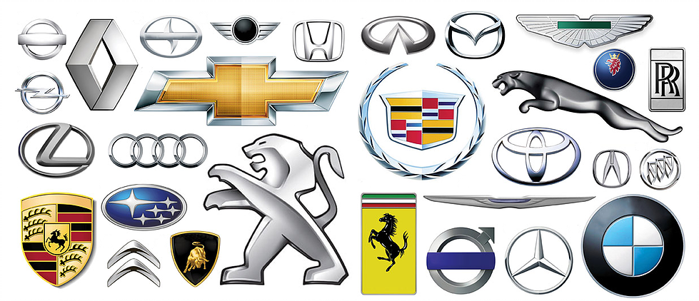 Эмблемы всех автомобилей на одной картинке