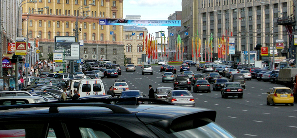 В центре Москвы из-за платной